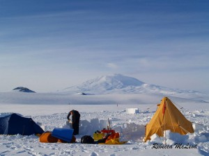 Our camp at the base of Mount Erebus
