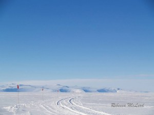 """Roads"" are marked and checked regularly by field staff from Scott and McMurdo Bases"