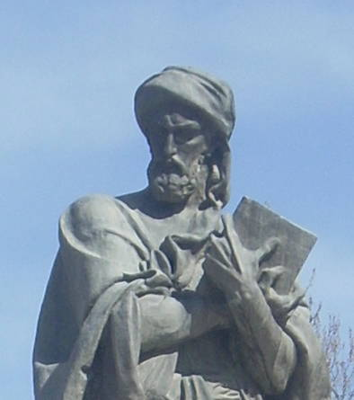 Ibn Sina (Avicenna) whose Canon of Medicine (1025) is one of the earliest examples of communication of disease risk. Image source: wikipedia