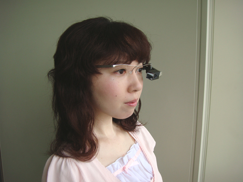 Wearing computer glasses