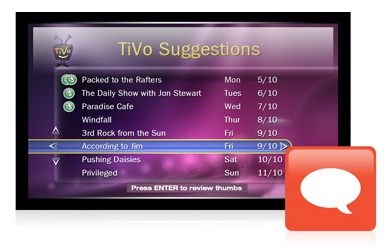 TIVO's suggestions feature