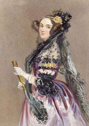 Ada Lovelace, regarded as the first computer programmer (Source: wikipedia)