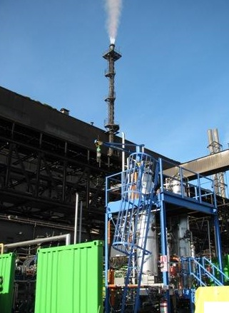 Lanzatech's test plant at the Glenbrook steel mill  source: Lanzatech