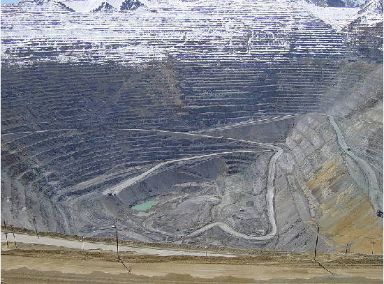The Bingham Canyon Mine excavation is regarded as the world's largest man-made excavation at 1.2 km deep and 4 wide. (Image source: wikipedia.)
