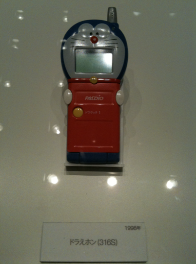 1998, Doraemon mobile, a popular children's anime character