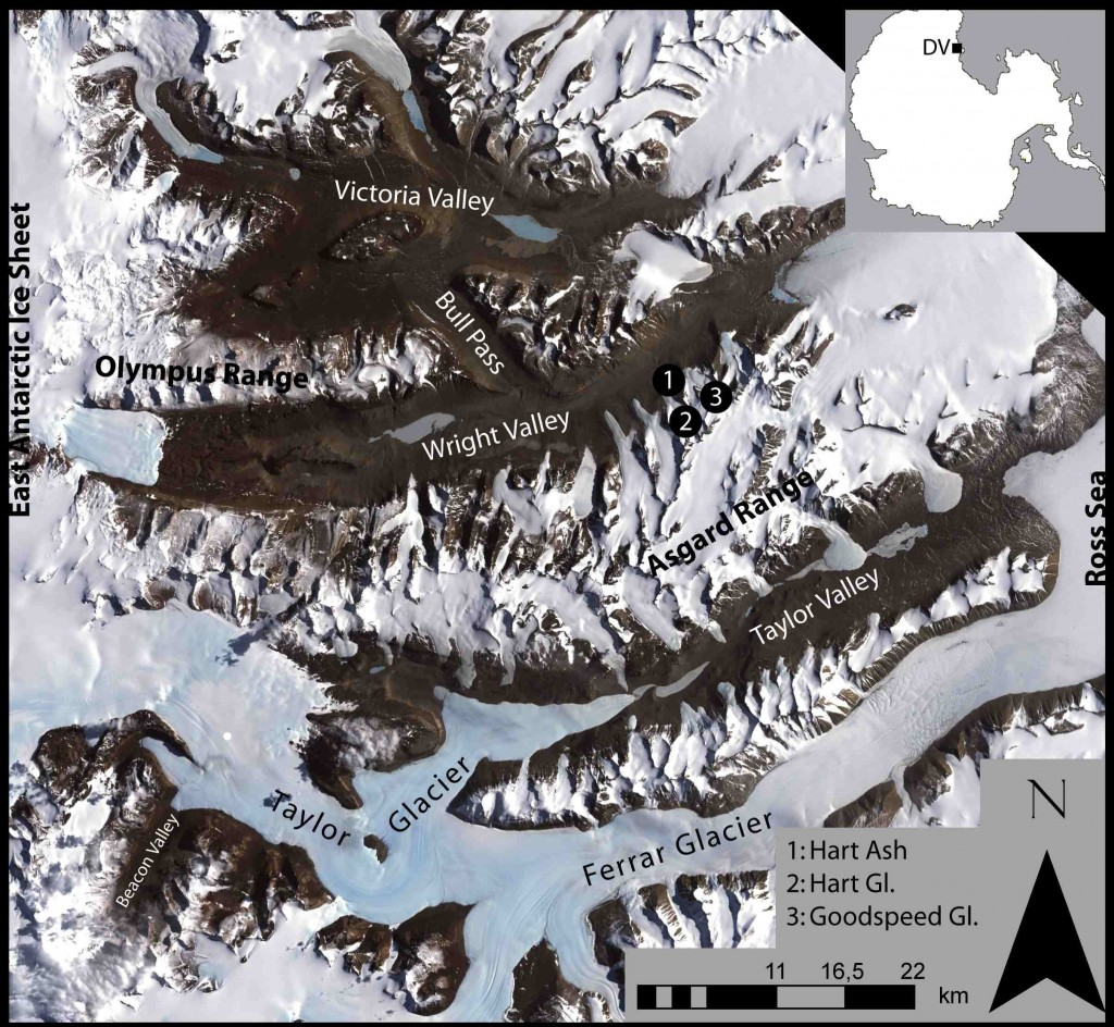 McMurdo Dry Valleys Map