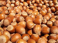 Hazel nuts, if you're wondering (Source: Wikimedia Commons.)