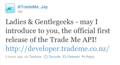 Trade Me announcement