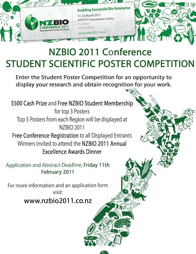 NZBio student poster competition