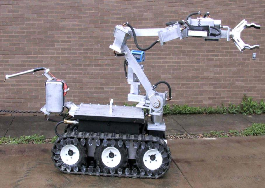 """V2"" - the converted bomb disposal robot used in a West Virginia mine search and rescue operation in 2006"