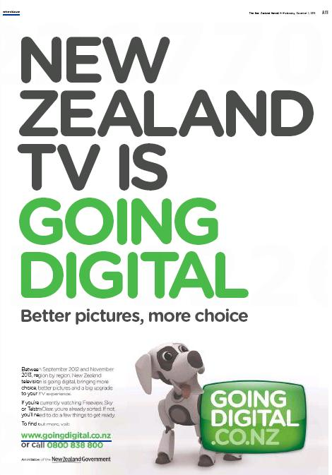 Newspaper ad for Going Digital campaign