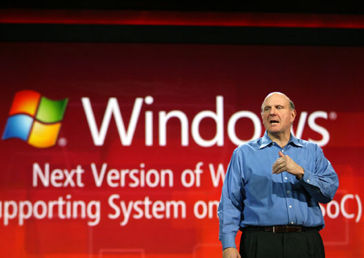 Steve Ballmer at the CES keynote in Las Vegas