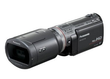 Panasonic camcorder with 3D attachment