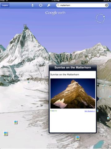 Google Earth for iPad