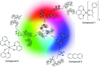 Colour spectrum available from dyes embedded in a mucin matrix