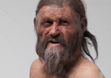 Latest reconstruction of Otzi for the Otzi 20 exhibition
