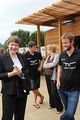 Helen Clark visits, photo from the First Light web site
