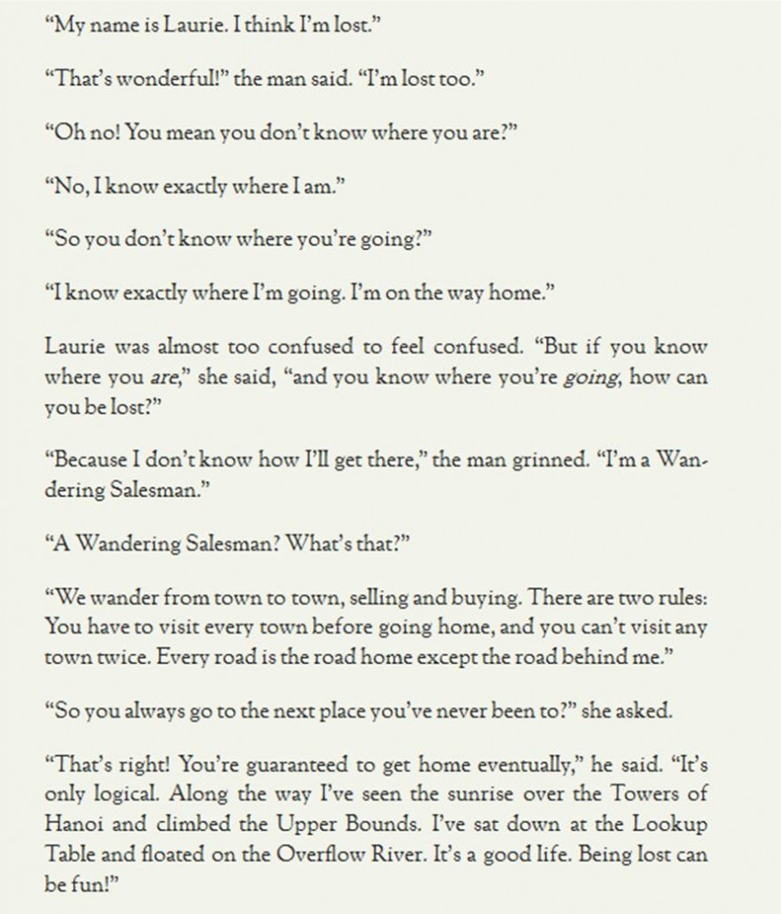 This comes after my bestest favouritest bit of thus far :)  (Excerpt from Lauren Ipsum) [Click to enlarge]