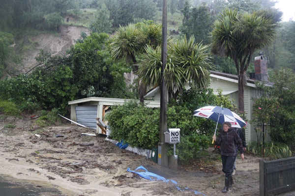 Landslide, Nelson.     Source: The Nelson Mail