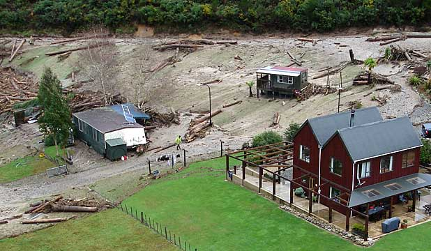 Debris Torrent, Nelson.   Source: stuff.co.nz