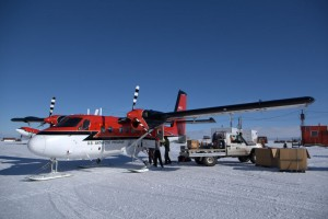 Loading the Twin Otter for the flight north