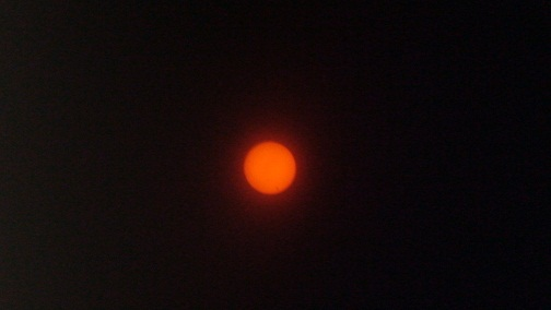 The Transit of Venus shot through my blacked-out glasses