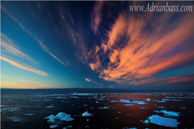 Ice in the Antarctic ocean. [Adrian Bass]