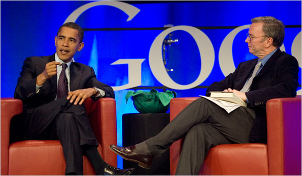 obama, schmidt, google