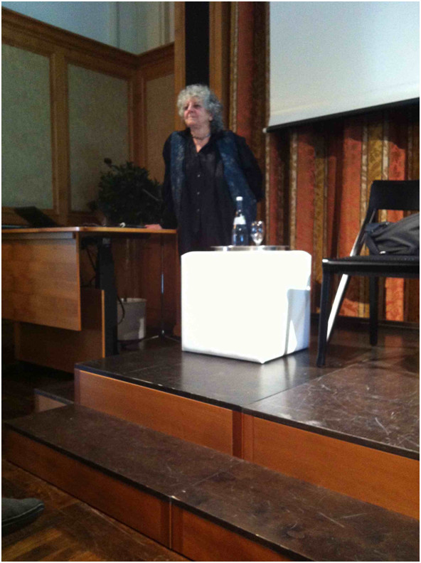 Ada Yonath at the afternoon discussion session