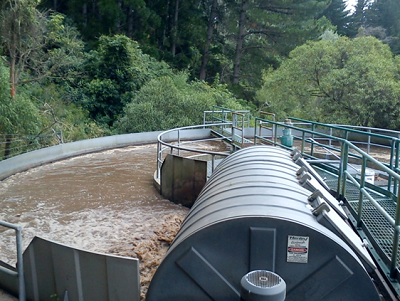 Discharges from wastewater treatment plants are a major source of emerging contaminants entering aquatic environments. (P. Emnet)