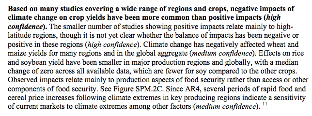 Source: IPCC Assemmment Report 5 - WG2 Summary for Policymakers