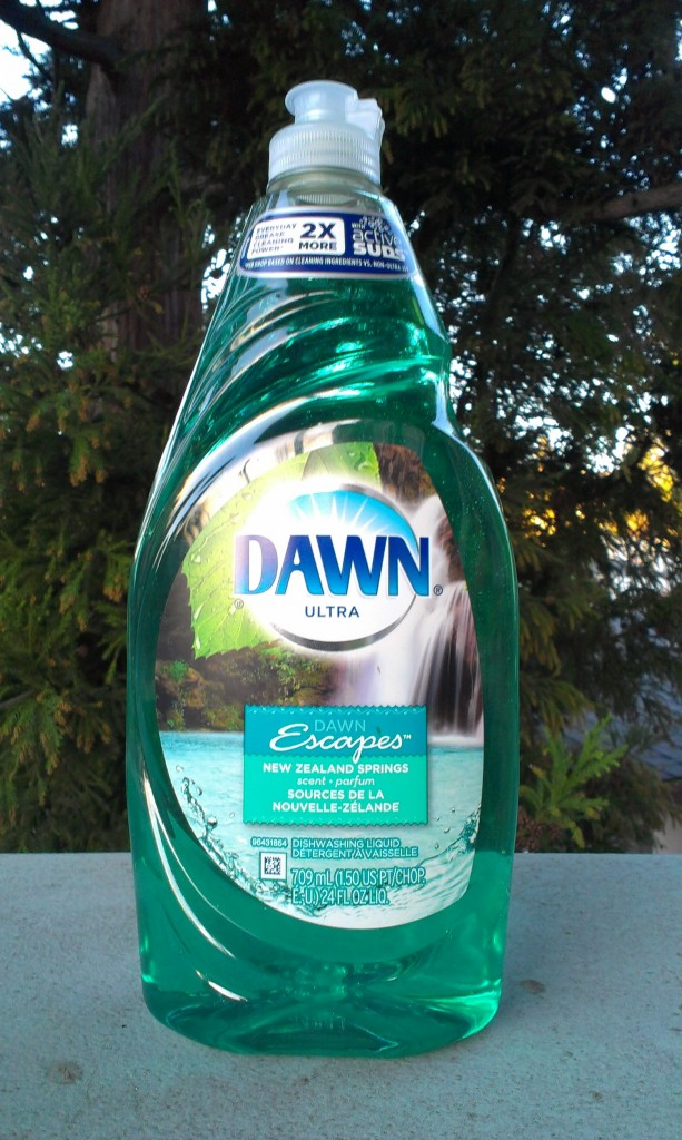 Proctor & Gamble's Dawn Ultra, New Zealand Springs. Sold in North America. Listed on fishpond.co.nz but unavailable in New Zealand