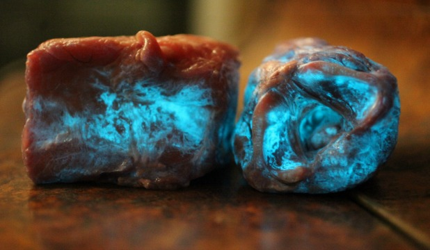 glowing meat