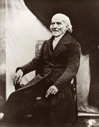 Daguerreotype of Samuel Hahnemann, founder of Homeopathy,  taken 1841. Source: Wikimedia Commons, public domain, artist unknown.