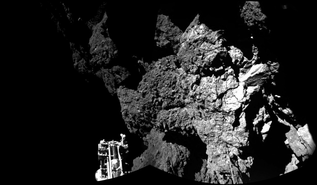 Welcome to a comet. Photo by European Space Agency taken by Philae.