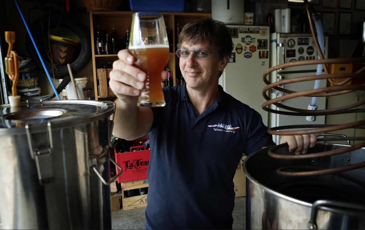 NIWA's home brewer Karl Safi
