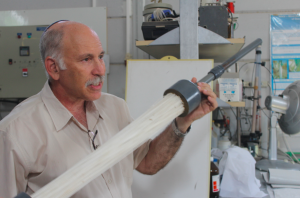 Professor Gilron with his membrane desalination technology
