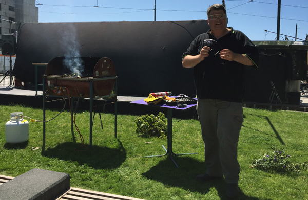 The plant BBQ demonstration from Tim Curran of Lincoln University was a great hit