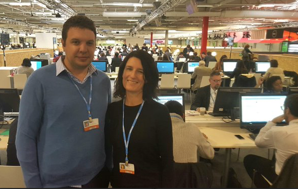 Reporting on COP21: New Zealand Herald science reporter Jamie Morton and RNZ Political Reporter Chris Bramwell