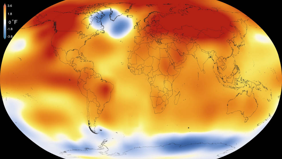 Featured image: 2015 hottest year on record