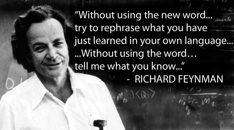Featured image: Against Jargon: Feynman edition
