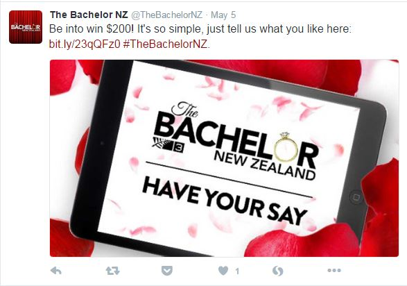 Here's your chance to push for science to steam up The Bachelor NZ. Source: https://twitter.com/TheBachelorNZ