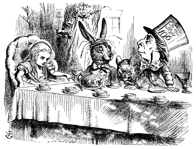 By John Tenniel - Alice in Wonderland, Illustrator: Tenniell 1st Russian Edition, Public Domain, https://commons.wikimedia.org/w/index.php?curid=629690, curious