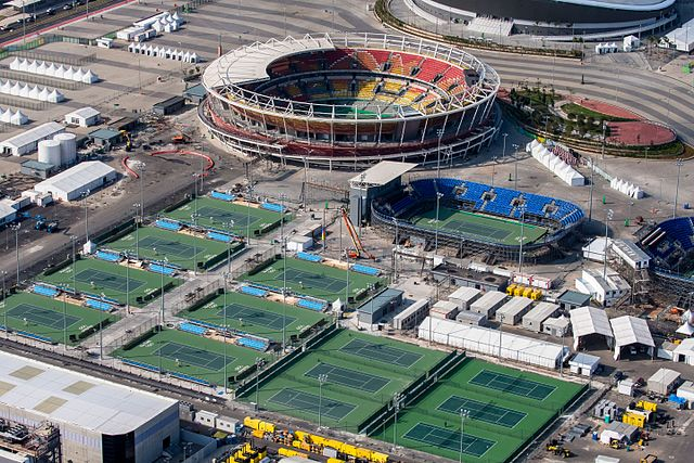 Olympics: Olympic Tennis Center . Credit: Wikimedia / Portal Brasil 2016.