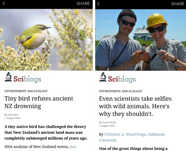 Sciblogs on Instant Articles