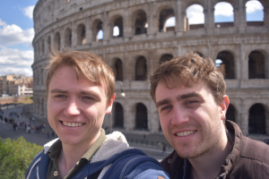 Andrew and I in front of the incredible Colosseum.