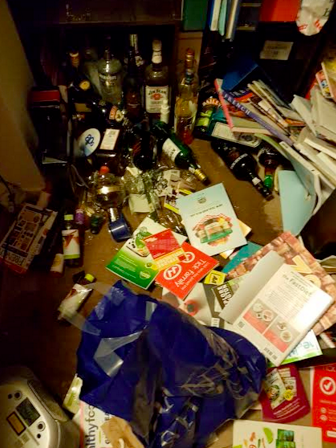 Top shelf liquor takes on new meaning in an earthquake, its now infused through my carpet.