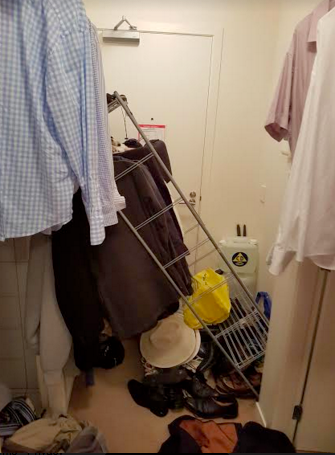 That's the way out - but note my emergency Civil Defence water supply pack. #beprepared
