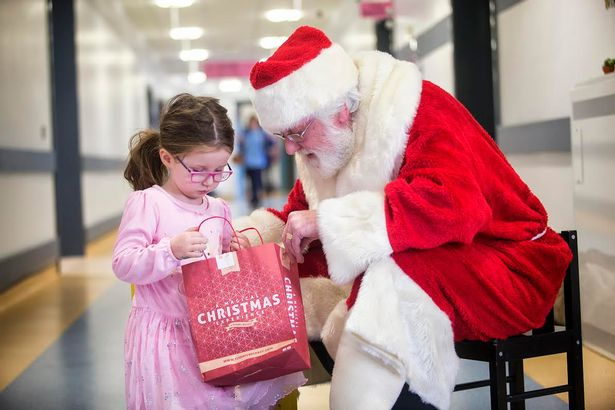 Santa pays a visit to the Royal Belfast Hospital for Sick Children . Source: BelfastLive.