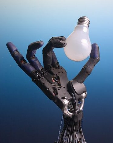How may robots does it take to change a lightbulb? Credit: Shadow Robot Company.